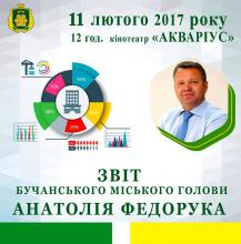 Звіт Бучанського міського голови