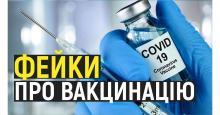 Найпоширеніші фейки про вакцинацію від COVID-19